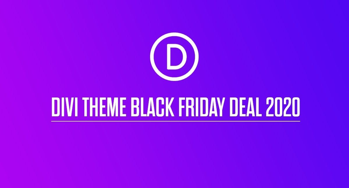 Divi Theme Black Friday Deal 2020