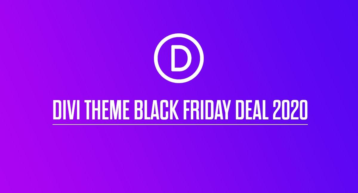 Divi Theme Black Friday Deal 2020