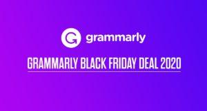 Grammarly Black Friday Deal 2020