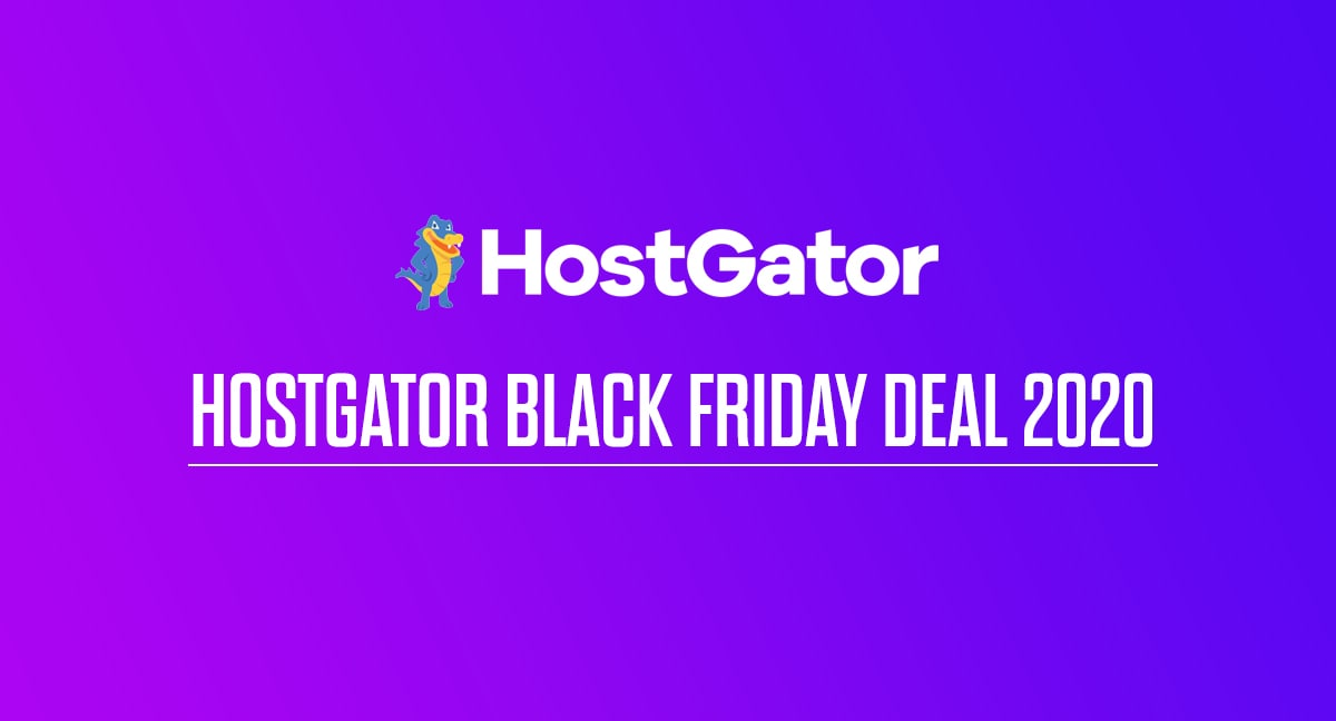 HostGator Black Friday Deal 2020