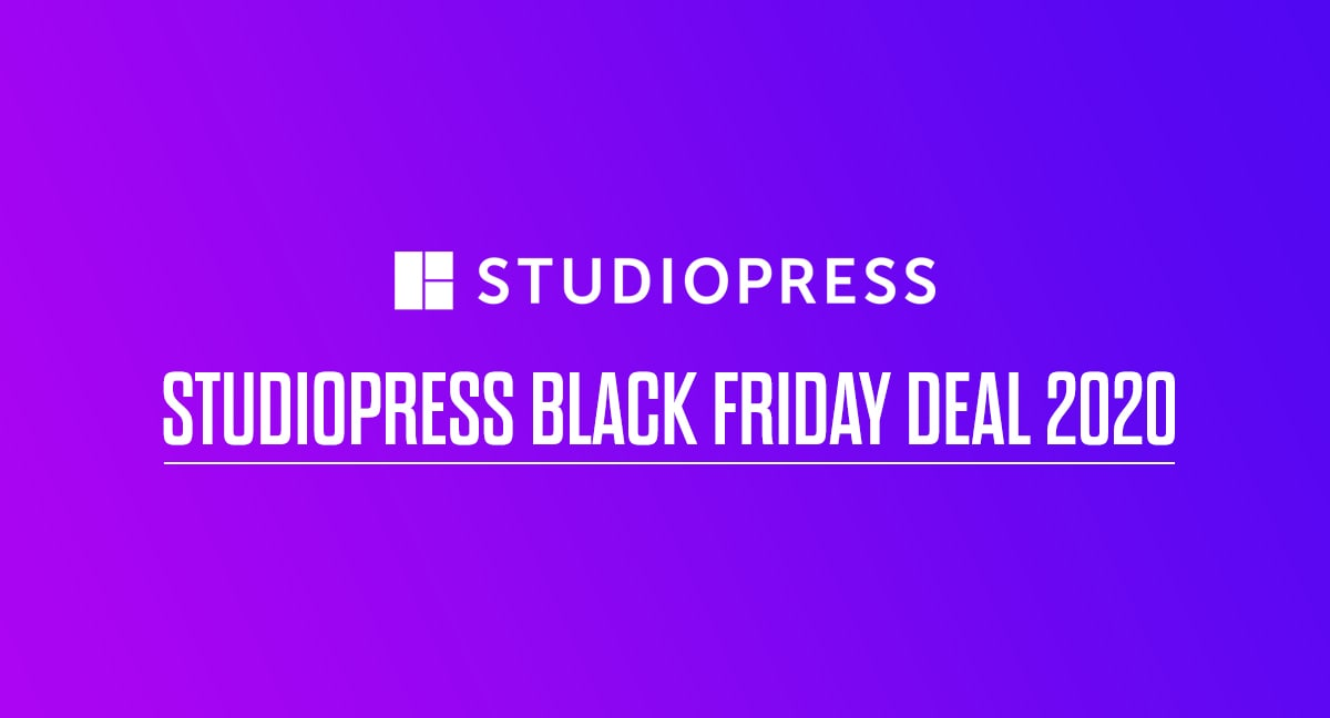 StudioPress Black Friday Deal 2020