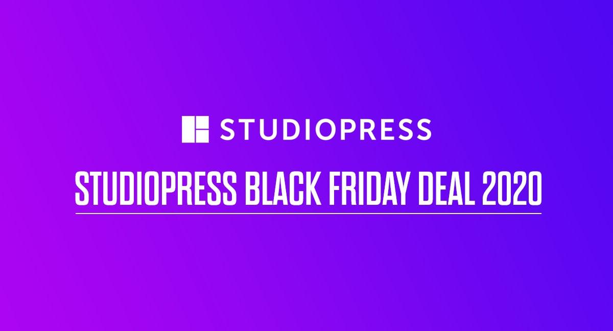 StudioPress Black Friday Deal 2020