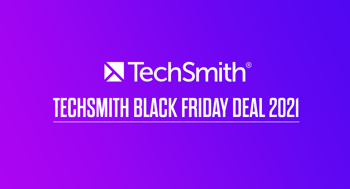 TechSmith-black-friday-deal-2021